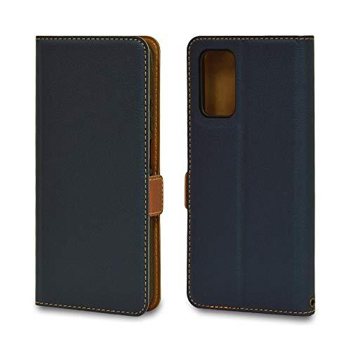 ラスタバナナ Xiaomi Redmi 9T ケース カバー 手帳型 +COLOR 薄型 サイドマグネット NV×BR スタンド機能 カード入れ シャオミ レッドミー 9T スマホケース 6047RED9TBO