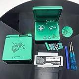 Einuz Carcasa de repuesto para GBA SP Gameboy Advance SP (Green Rayquaza)