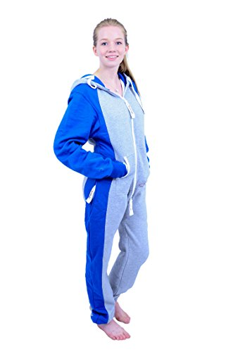 The Classic Unisex Onesie in Sports Grey and Royal Sides - 3