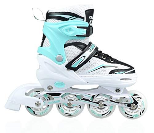 Croxer Inline Skates Inliner Exima (White/Mint, 39-42(24cm-26,5cm))