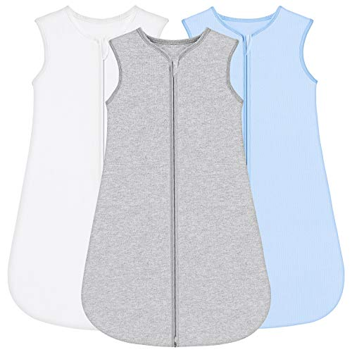 Yoofoss Baby Schlafsack 100% Baumwolle 3er Pack Baby ganzjährig waschbar Leichter Multi-Size-Babyschlafsack für Jungen und Mädchen 18-36 Monaten