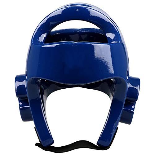 Farabi Sports Boxing Head Guard Kick Boxing Head Protection Rex Leather Color Blue /& White