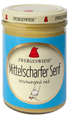 Zwergenwiese Bio Mittelscharfer Senf, 160 ml