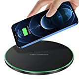 Fast Wireless Charger,20W Max Qi-Certified Wireless Charging Pad Compatible with Apple iPhone 12/SE 2/11/X/XR/8,AirPods;FDGAO 15W Wireless Charge Mats for Samsung Galaxy S21/S20/S9/Note,Galaxy Buds