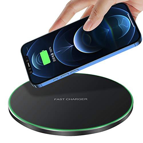 [2021 Neuste] Fast Wireless Charger, 20W Qi Schnelles Kabellosen Ladepad Induktions Ladegerät mit USB-C Kabel für Apple iPhone 13 12 11 XS X XR AirPods Samsung Galaxy S21 S20 S10 Note20 10 Kopfhörer