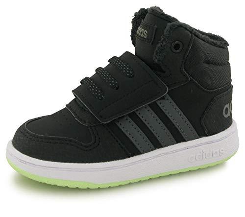 adidas Baby Hoops Mid 2.0 - Zapatillas deportivas, color Negro, talla 39 1/3 EU
