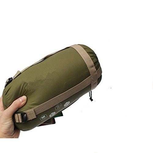 JVJ Sac de Couchage Envelope Sleeping Bag Portable Super léger Ultra-économie de l'espace pour Voyage/randonnée/Trekking/Camping