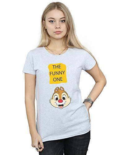 Disney Femme Chip N Dale The Funny One T-Shirt Sport Gris Medium