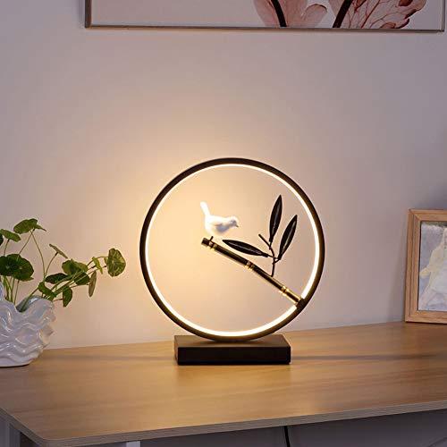 Cakunmik 110 V Neue chinesische Tischlampe Schlafzimmer Nachttischlampe Kreative Moderne Minimalistische Mädchen Wohnzimmerstudie Tischlampe Hochzeit Romantische Hochzeitsraum Nachttischlampe,B