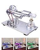 TETAKE Moteur Stirling Generateur Magnifique LED Maquette Kit Stirling Engine Motor Machine à Vapeur Jouet Éducatif pour Enfant Adulte
