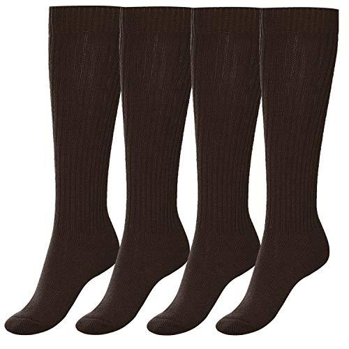 Aibrou Herren/Damen THERMO Wolle Sportsocken Strickstrumpfhosen 4/5 Paar, Lange Socken 5 Farben Extra Warm