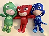 KIDS PLUSH PJ Masks Catboy Owlette Gekko Plush Doll Stuffed Animal Toy Gift SET Kids 12'
