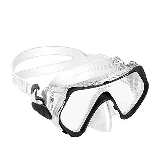 KOROSTRO Taucherbrille Kinder, Schnorchelbrille Schwimmbrille Kindertaucherbrillen Tauchmaske, Wasserdicht, Lecksicher, UV Schutz, Verstellbares Silikonband, Geeignet für 4-10 Jahre - Schwarz