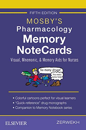 Compare Textbook Prices for Mosby's Pharmacology Memory NoteCards: Visual, Mnemonic, and Memory Aids for Nurses 5 Edition ISBN 9780323549516 by Zerwekh MSN  EdD  RN, JoAnn