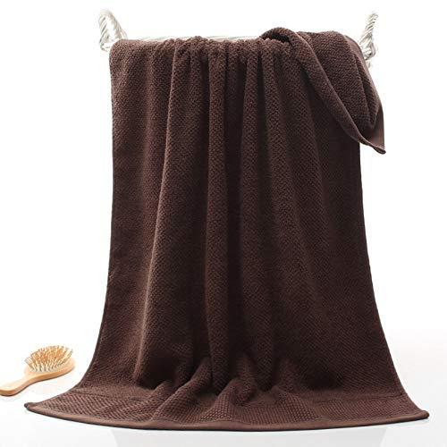 HULDORO Honeycomb Set de Toalla Soft Geométrico Belleza Cara Toallas 100% algodón Toalla de baño Naiant Place 3 Colores Adultos Toalla (Color : Dark Coffee, Size : 2pcs Towel Set)
