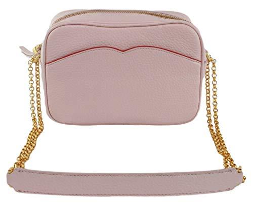 Lulu Guinness Medium Amber Cross Body Shoulder Bag Leather Handbag (Blush Pink)