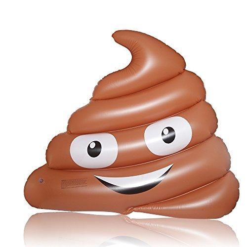 DMAR Inflable Poop Emoji Flotador de Piscina Gigante Juguetes inflables Divertidos de la Playa del mar del Agua del colchón de la balsa