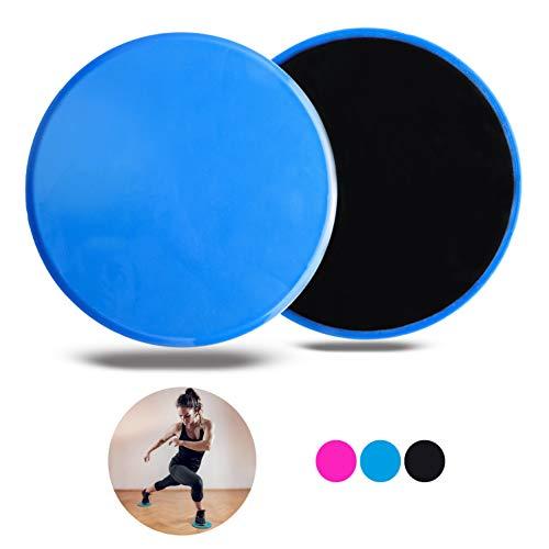 VELOVITA Slider Discs –Yoga Retreat • blau • 2er Set • doppelseitige Gleitscheiben • für Holz- & Teppichböden • Gym & Home Workout Equipment • Fitness Pads für das Ganzkörpertraining