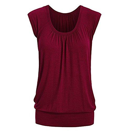 MERICAL Blusa Camiseta Las Mujeres unir Verano Cuello