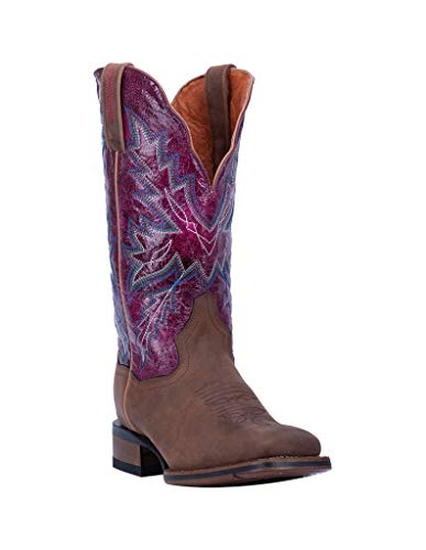 Dan Post Western Boots Womens Pasadena Square Toe 8.5 W Brown DP4570