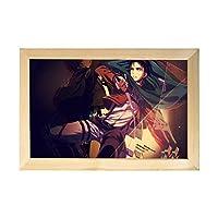 進撃の巨人 アートパネル 壁飾り 絵画 壁掛け ポスター 写真 インテリア フレーム アートポスター キャンバス絵画 壁アート モダン 木枠付きの完成品20*30