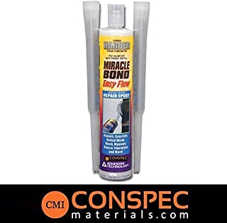 Conspec Miracle Bond 1310 EPOXY PASTE (9-oz Tube) (EXTRA NOZZLE INCLUDED) Concrete, Wood Restoration, Ceramic Pool Tile, Marine Grade
