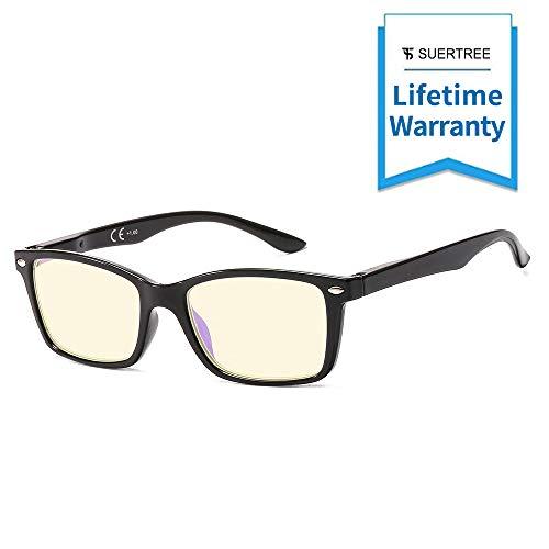 Suertree 90% Anti Blue Light gafas de lectura ayuda visual gafas ópticas gafas de lectura para damas hombres BM151T 1.5X