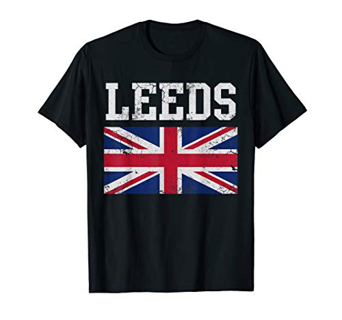 Leeds Flag United Kingdom Flag Union Jack T-Shirt