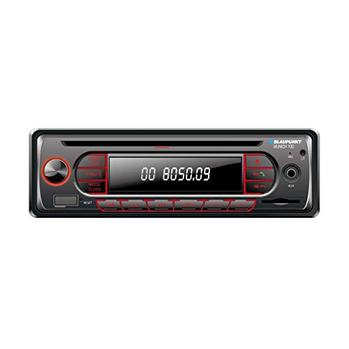 BLAUPUNKT Munich 100 1 DIN USB Bluetooth AUX MP3 SDHC Car Radio CD Player 4 x 40W Built-in Amplifier Stereo...