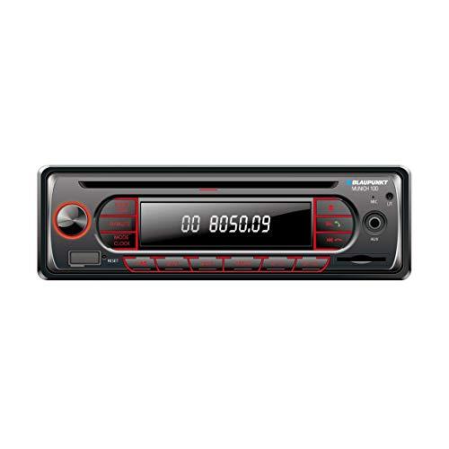 BLAUPUNKT Munich 100 1 DIN USB Bluetooth AUX MP3 SDHC Car Radio CD Player 4 x 40W Built-in Amplifier Stereo...