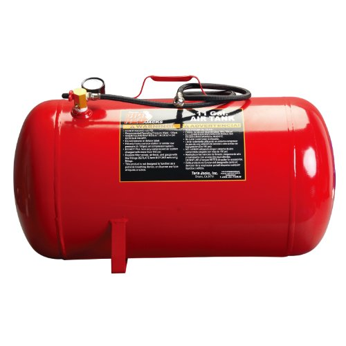 BIG RED T88011 Torin Portable Horizontal Air Tank with 50' Hose, 11 Gallon Capacity, Red