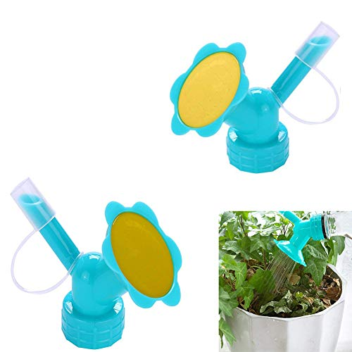 Guang-T - Irrigatore con Tappo a Bottiglia, 2 in 1, Mini annaffiatoio 2 in 1, con beccuccio a Doppia Testa, per irrigazione Bonsai, per piantine e Piante da Giardino (2 Pezzi)