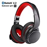 4.2 Around-Ear kabellose Kopfhörer (Aptx),AUSDOM AH3 Bluetooth Headphone, 3.5 mm...