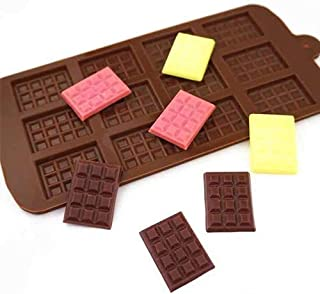 MACKLON Chocolate Silicon Mould, Different Chocolate Molds, Cake Soap Ice Cream Candy Jelly molds (3D Candy bar Chocolate ...