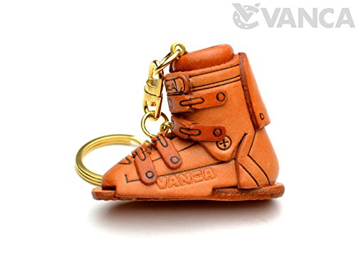 Ski Boot Leather Sports KH Keychain VANCA CRAFT-Collectible keyring Made in Japan