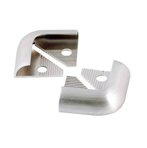 Tile Rite SSEC385 - Profili angolari per piastrella, in metallo effetto acciaio INOX spazzolato, 12 mm