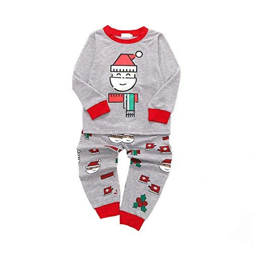 Hui.Hui Ensemble Noël Vêtements Santa Claus Imprimé T-Shirt Manche Longue Fille Haut Tops + Pantalon pour Enfants Tenues Vêtements Hiver Chic Noël Cadeau