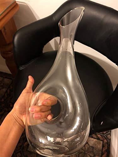 XINGJIJIJIA Seguro La Calidad del Vino Diseño Caracol Estilo Jarra 400ML; 1000ML Plomo Copa Superior aireador irrompible (Color : 400ML)