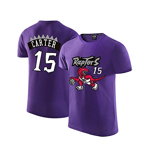 Vince Carter Camiseta de manga corta para hombre, Toronto Raptors 15 # sudadera de moda, de malla retro, camiseta de baloncesto Swingman (S-3XL)