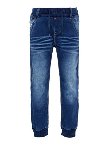 NAME IT Herren Pull-On Jeans Baggy Fit 104Medium Blue Denim