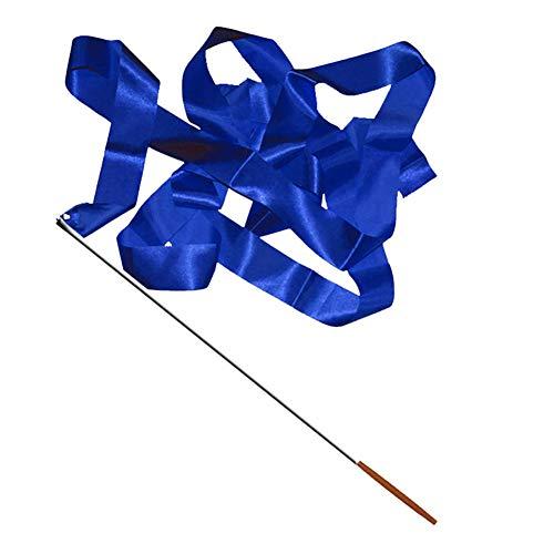 dljztrade Professionelle Gymnastik-Streamer, Buntes Tanzband, Rhythmisch, 4 m (1 Stück), blau