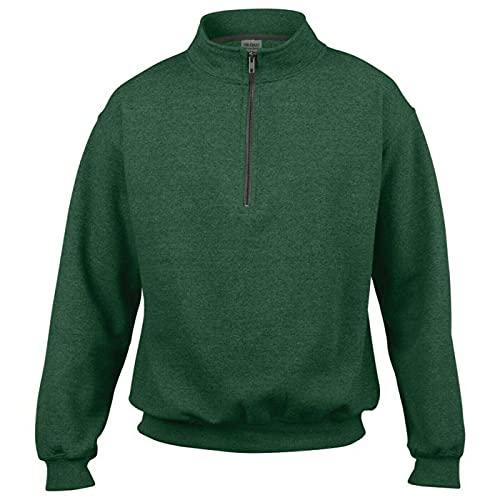 Gildan Adult Vintage 1/4 Zip Sweatshirt Top (S) (Meadow)