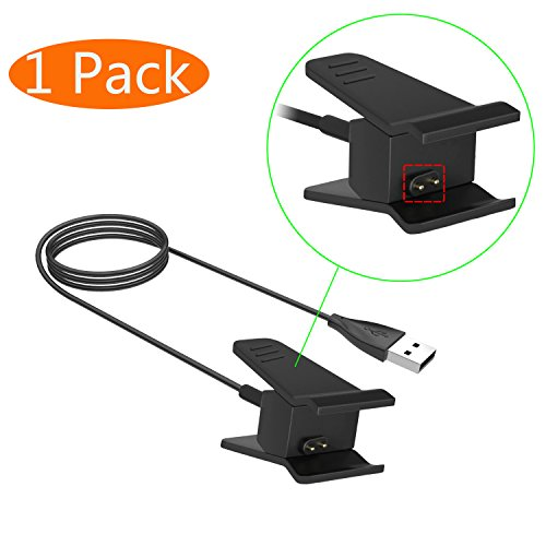 KingAcc Kompatibel Fitbit Alta Ladekabel, Ersatz USB Ladegerät Ladestation, Laden Kabel Charger, Charging Dock Adapter für Fitbit Alta(1-Pack)