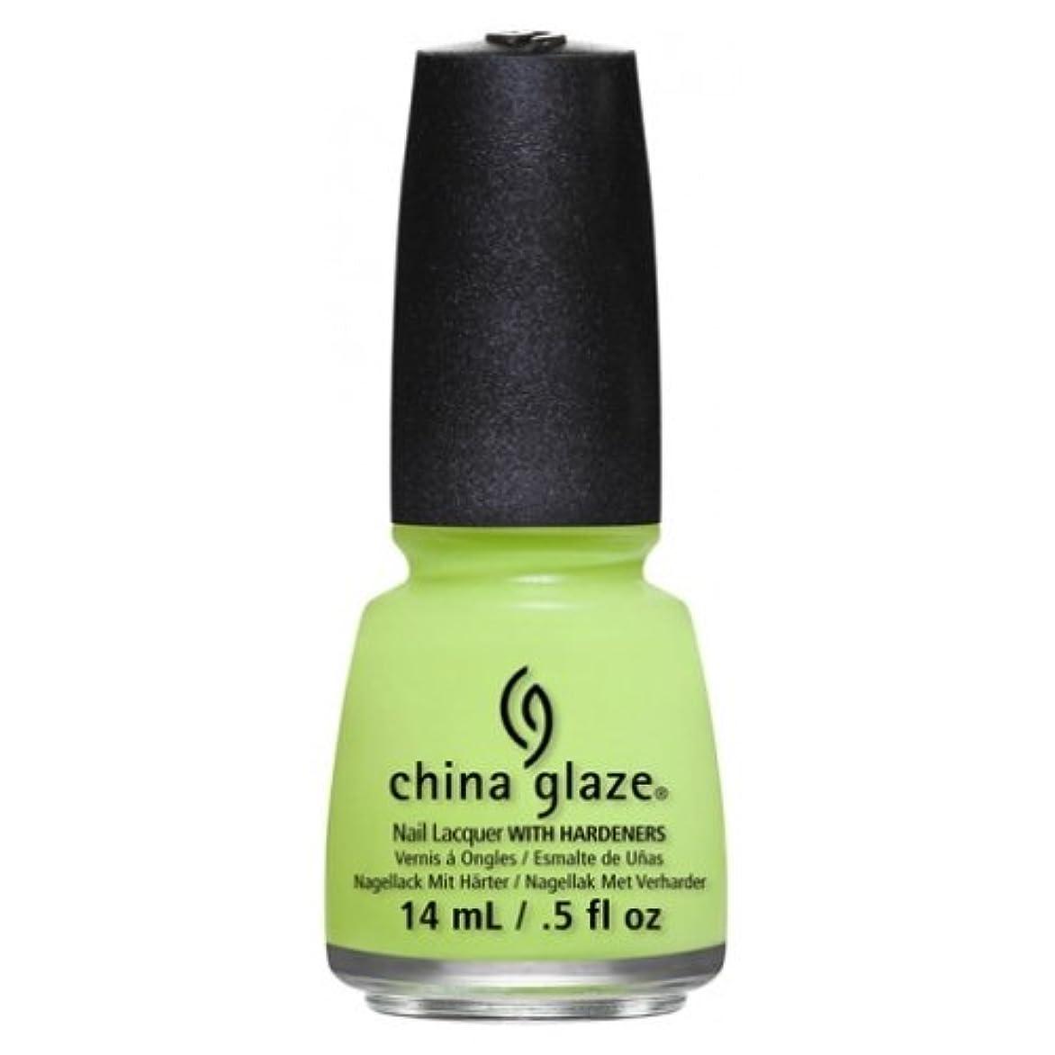 建てる機動冷ややかなCHINA GLAZE Nail Lacquer - Art City Flourish - Grass Is Lime Greener (並行輸入品)