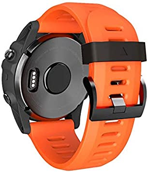 Lyperkin Compatible with Garmin Fenix 3 HR Watch,Fashion Luxury Soft Silicone Quick Release Watchband Band Strap Bracelet Wirstband Replacement Band Compatible with Garmin Fenix 3 HR.
