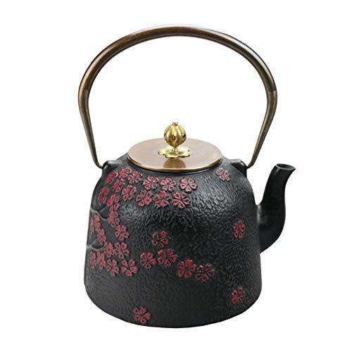 QINJLI Eisen Topf aus Gusseisen Teekanne antike japanische Gusseisen Topf Cherry Blossom Brillante...
