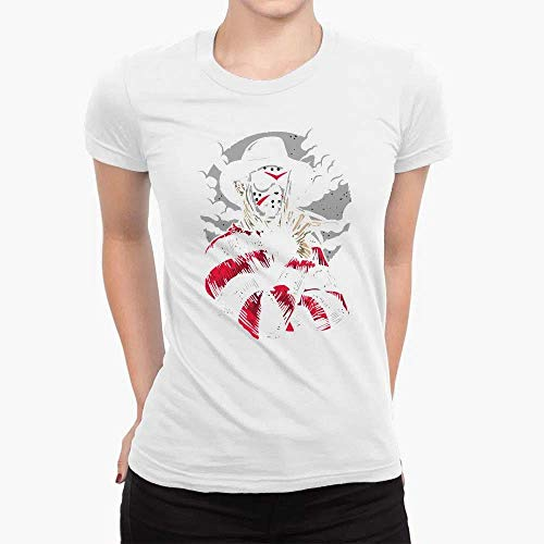 Camiseta Babylook Unissex Algodão Freddy Krueger Hora do Pesadelo Nightmare Terror Tumblr (Preto, GG)