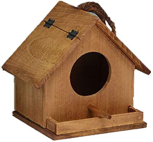 Goo-ki Oiseaux Nids for Cages Style Cottages Bird House Outdoor Hanging Décoration Pays for Petits Oiseaux Cabine Birdhouse Rétro Steeple Creative Bois en Plein air Birdhouse Bird House