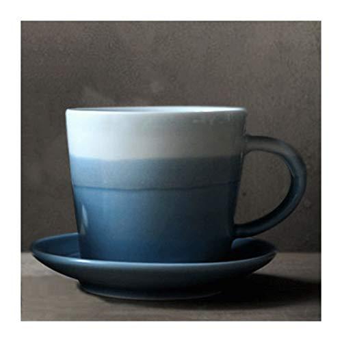KGDC Espresso Cups Coffee Mug with Saucers 6.4 Ounce Ceramic Coffee Mugs Restaurant Coffee Mugs Small Coffee Mugs (Color : B)