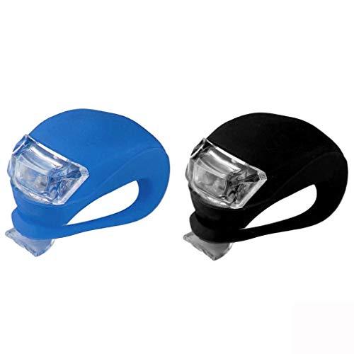 About1988 wasserdichte,Ultrahelle LED,3 Modus-Einstellung Ultra Bright LED 2 x CR2032-Batterien passend für alle Fahrräder, am Rucksack befestigt, Helm, Jacke (D)